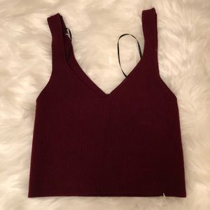 Burgundy Crop Top (Thick Material)